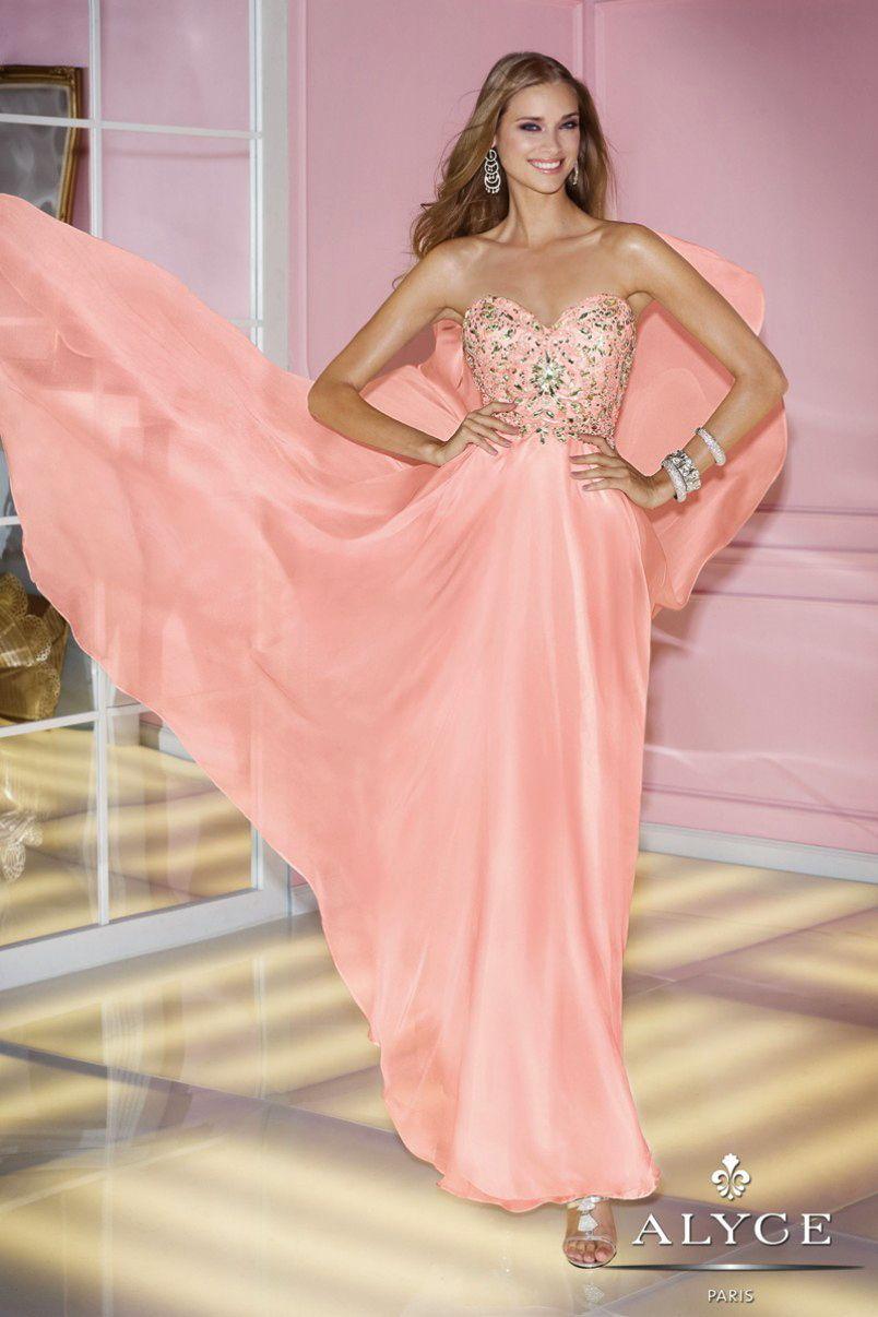 Prom Dresses<BR>Evening Dresses by ALYCE PARIS<BR>6227<BR>Strapless ...
