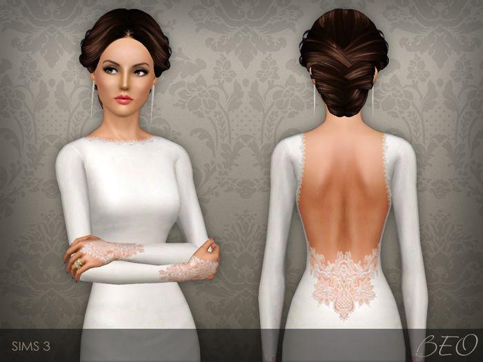 Sims 3 white dress 1920