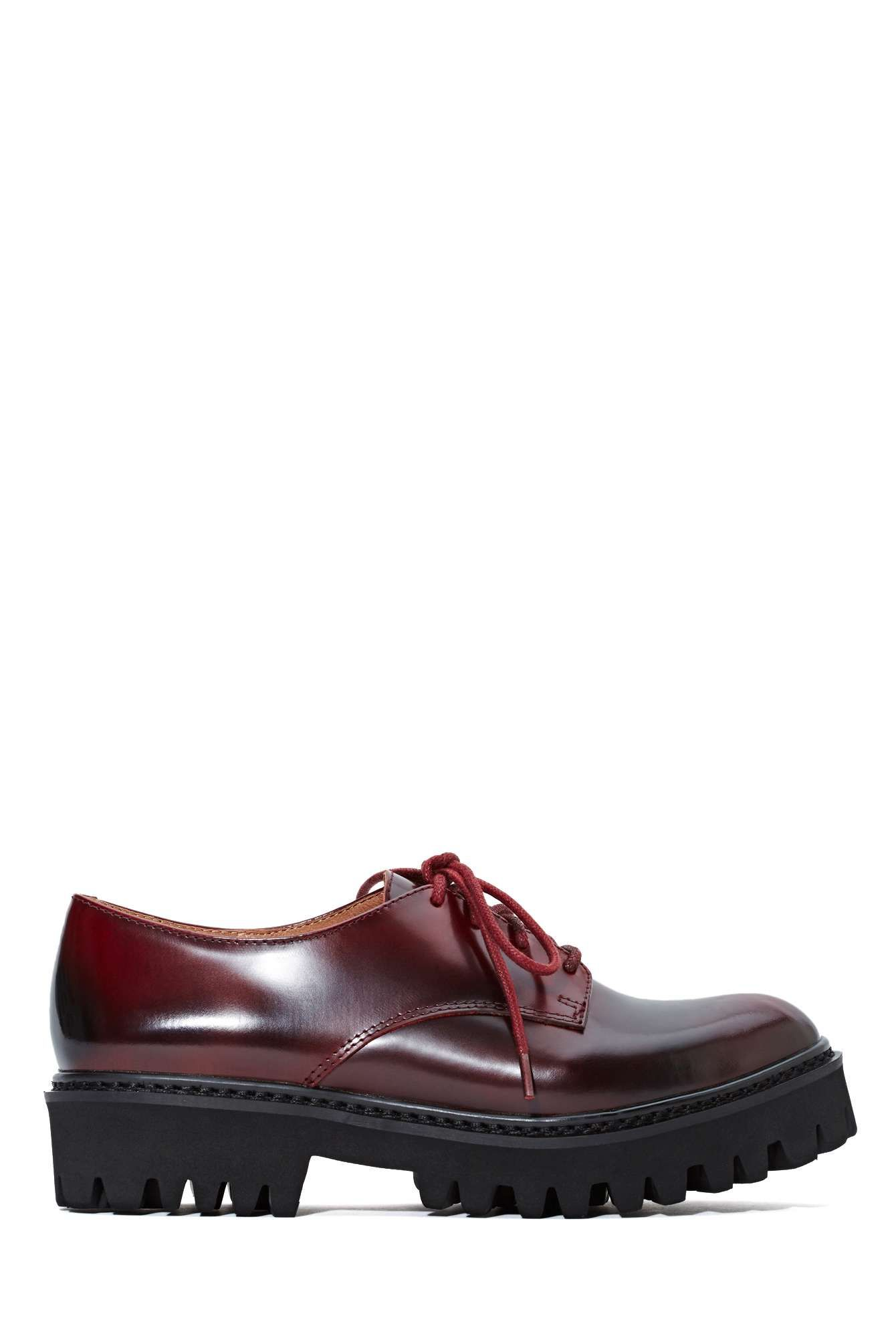Jeffrey Campbell Pistol Leather Oxford - Wine