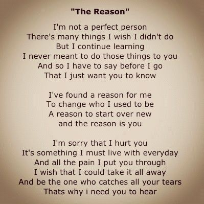 Hoobastank - The Reason lyrics - YouTube