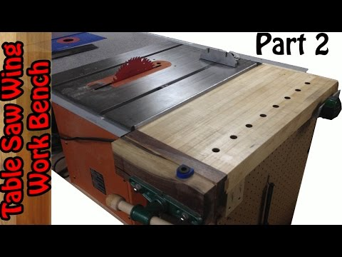 Tablesaw Wing Work bench build #2 - YouTube