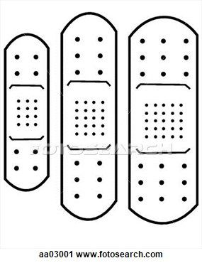 Adhesive Bandage Clip Art Knutselen Thema Ziek Zijn Kind