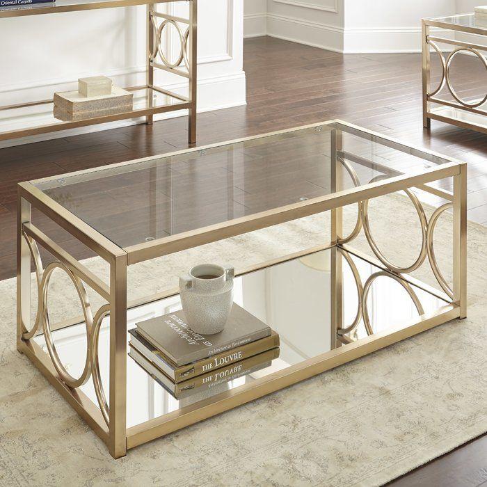 Ophelia Coffee Table Coffee Table Coffee Table With Storage Silver Furniture