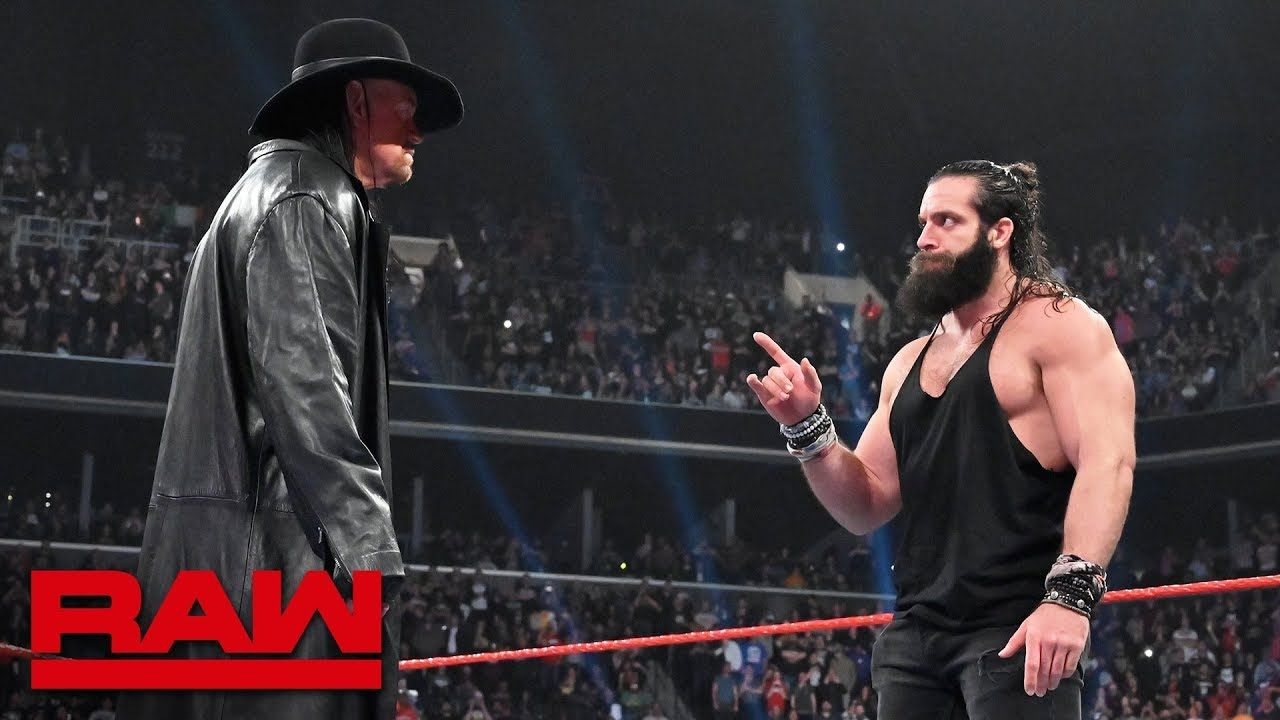 """The Undertaker returns to silence """"rapping"""" Elias: Raw"""