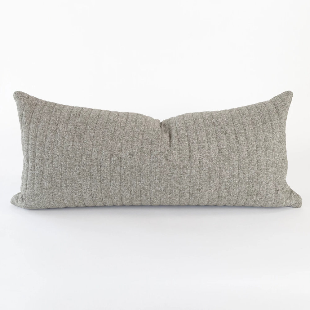 Gray Long Lumbar Pillow Extra Long