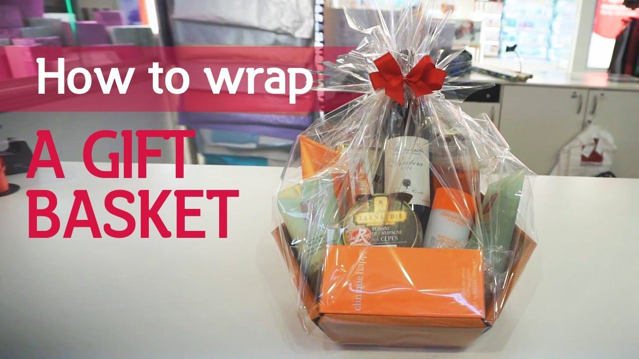 How To Wrap A Gift Basket Dollar Store Gifts Bath Gift Basket Gift Baskets