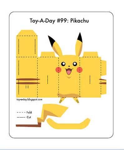 675 Pikachu Paper Toy Template Pokemon