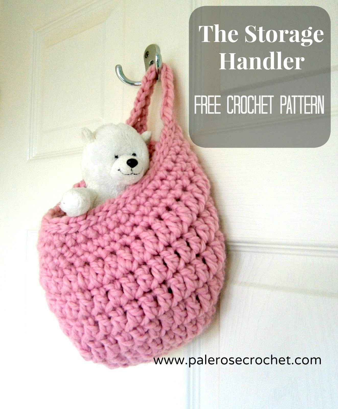 Pale Rose Crochet: The Storage Handler Crochet Pattern free storage ...