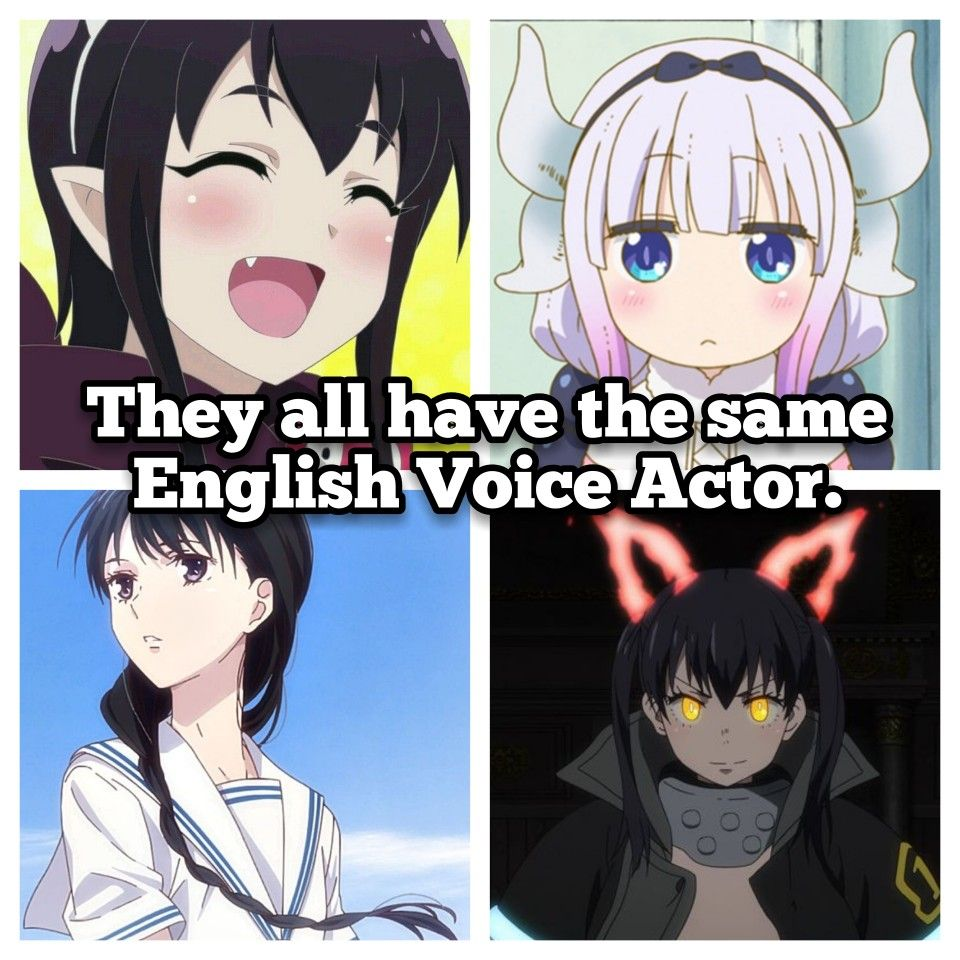 Anime characters with the same voice actor pt3 anime