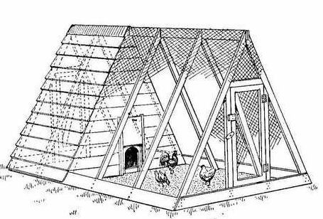 hen house frame free chicken coop plans a frame - A Frame Chicken House Plans