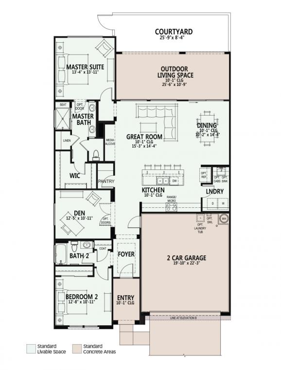 Viva 1655 Floorplan Arizona Senior Living Floor Plans House Plans House Floor Plans
