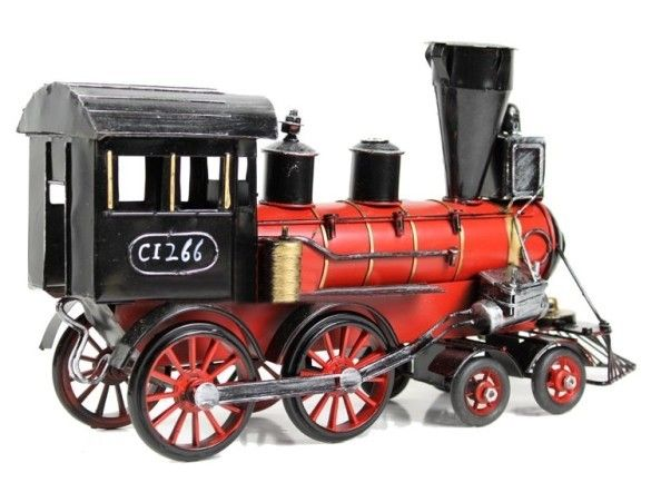 Old Toy Trains : Handmade antique metal model train steam trains