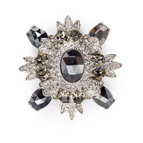 Kenneth Jay Lane Rhodium-plated Crystal Brooch - Silver NCxI57PcH