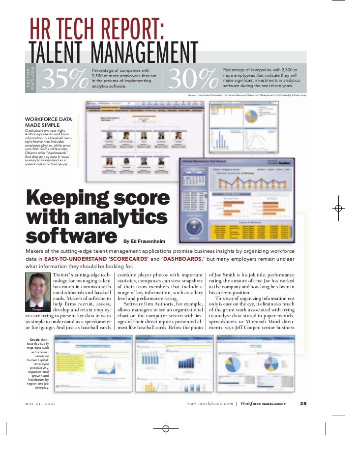 HR TECH REPORT TALENT MANAGEMENT Small Business Resources - hr report