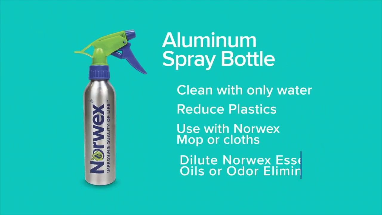Aluminum Spray Bottle Great to mix water w/ 12 drops of