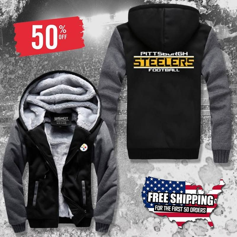 new arrival b4c7d 056cb Pittsburgh Steelers Thick Fleece Jacket 50% OFF! - FREE ...