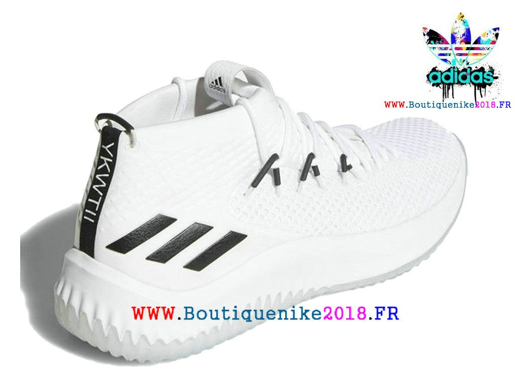 half off ca8b8 cb786 Nouveau Adidas Dame 4 Basketball Chaussures Damian Lillard Homme Blanc    noir Ac8646