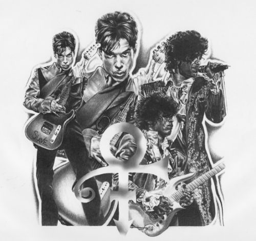 Prince Guitar Love Symbol Music RARE Poster Print Limited Awesome