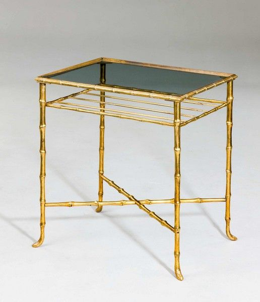 OnlineGalleries.com - French Faux Bamboo End Table