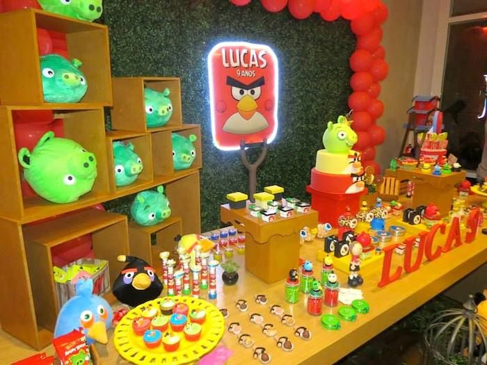Angry Birds Themed Birthday Party