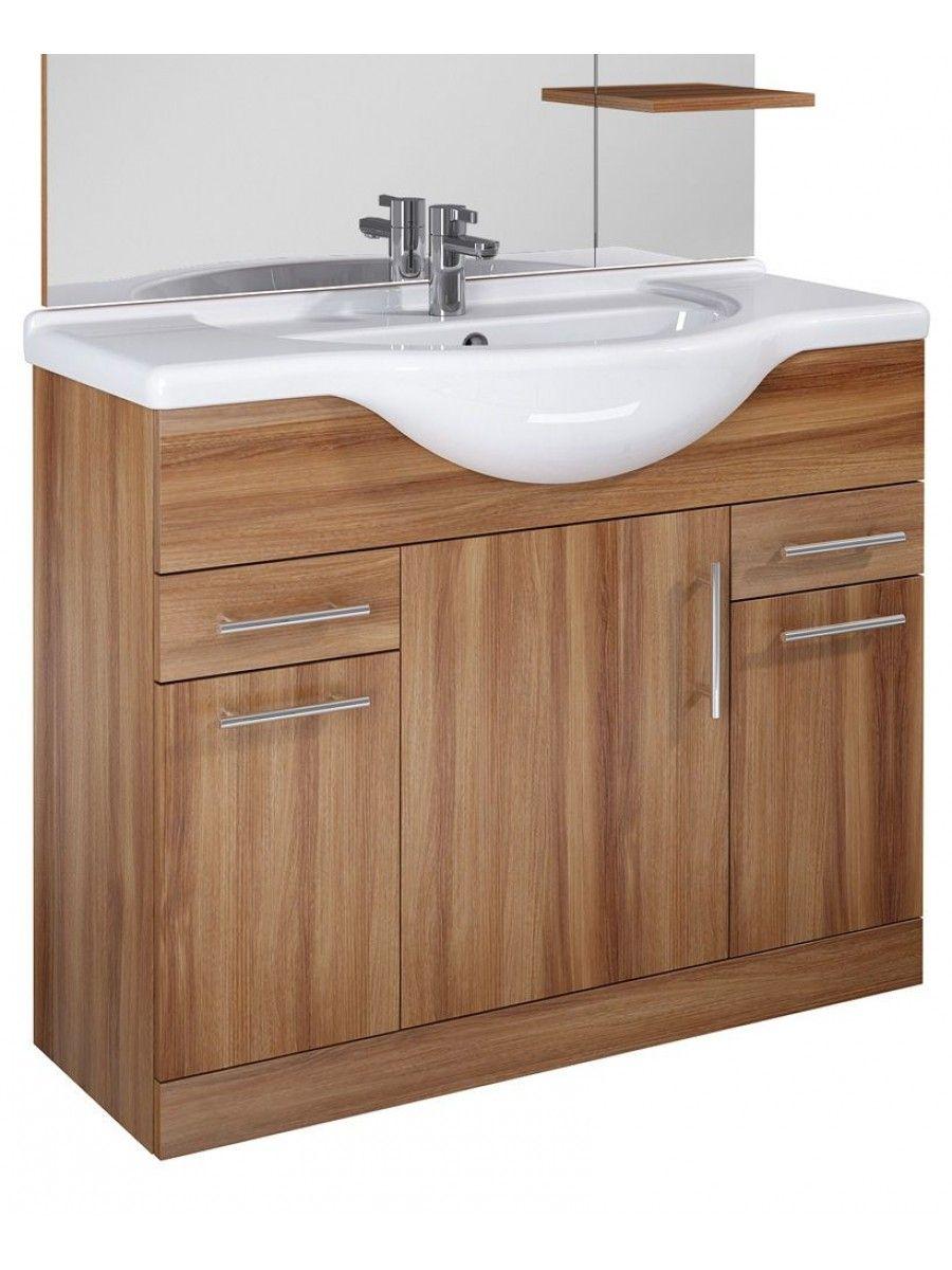 Blanco Walnut 105cm Vanity Unit Basin