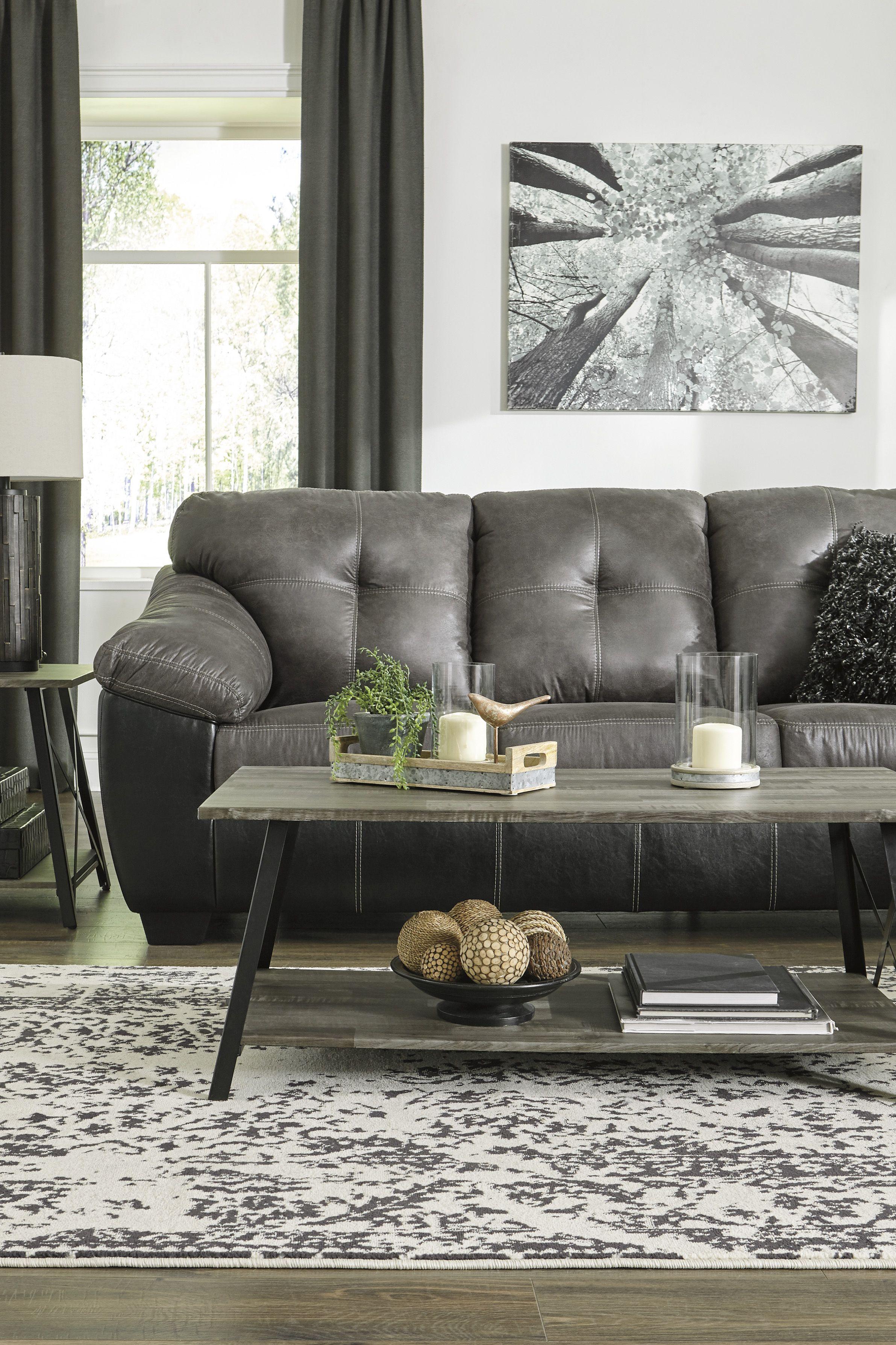 Ashley Gregale Slate Sofa Homemakers Furniture Interior Design
