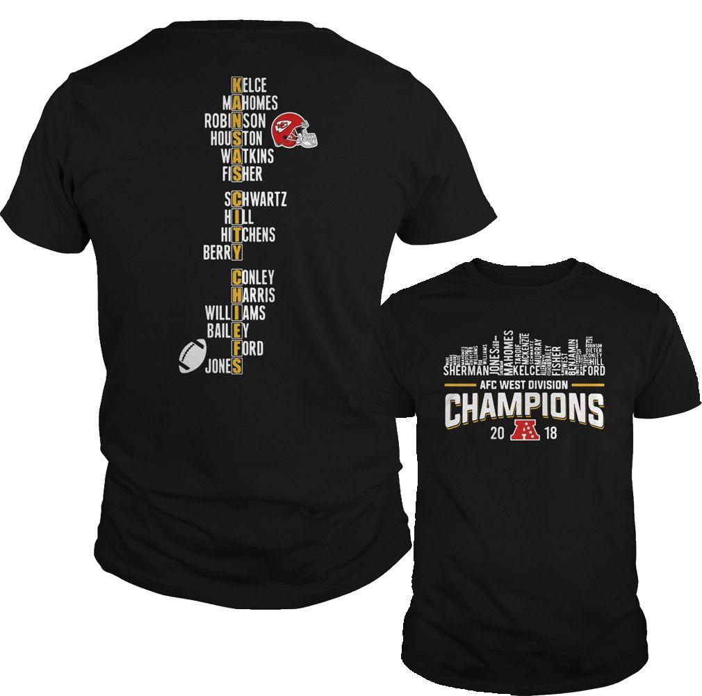 ddf88cec Kansas City Chiefs AFC West division champions 2018 shirt, hoodie ...