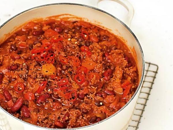chili svarta bönor