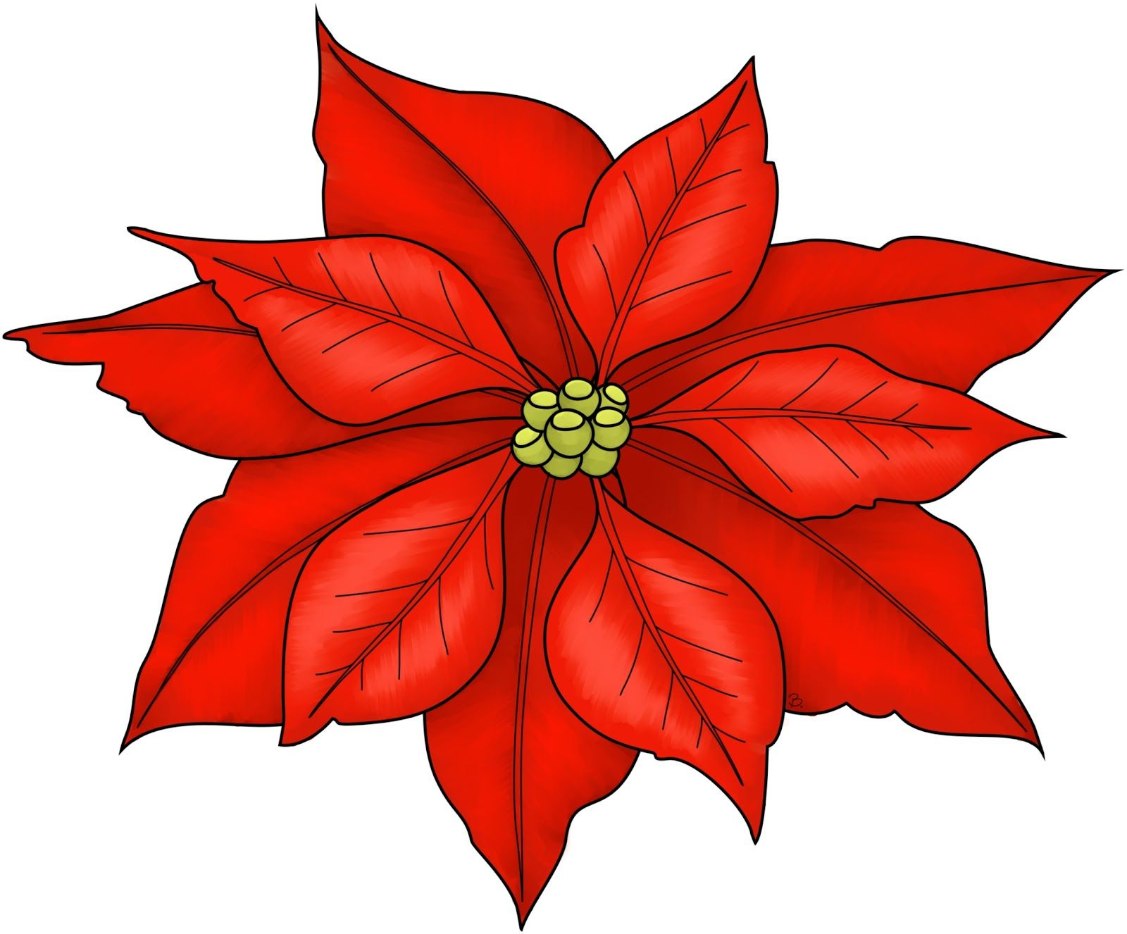 Poinsettia Freebie Printable...would make cute Christmas