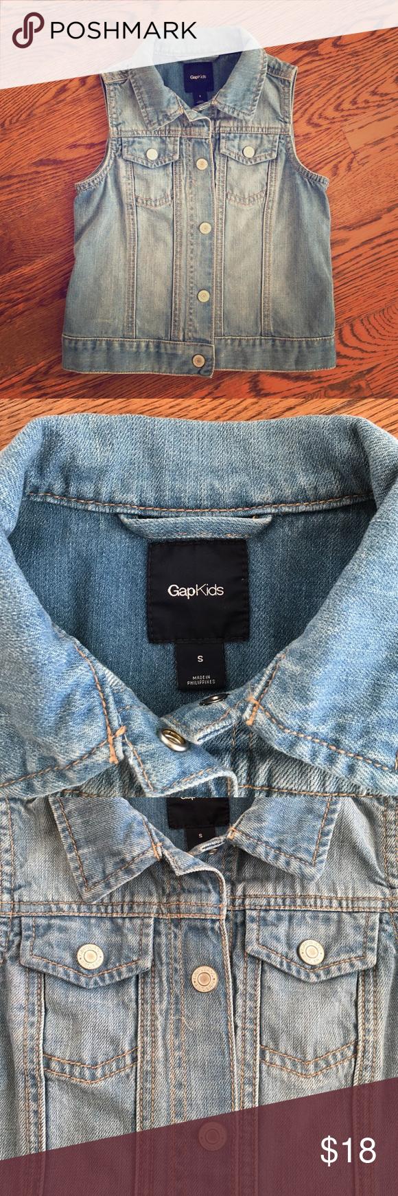 Gap Kids Denim Vest NWOT Never worn! GAP Jackets & Coats Vests