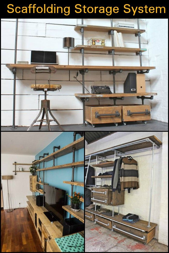 Merveilleux This Industrial Design Shelving System Is A Better Alternative Than  Store Bought Storage Units