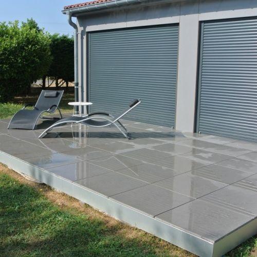 tecnhome-extension bardage composite ossature bois - terrasse gres