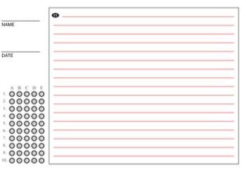 Blank Quiz Answer Sheet MCAS Bubble Test Key