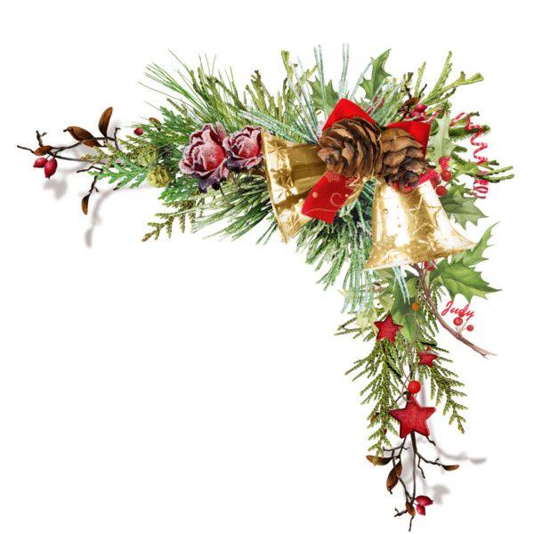 Christmas Corner Cluster W Bells Xmas Wreaths Christmas Bells