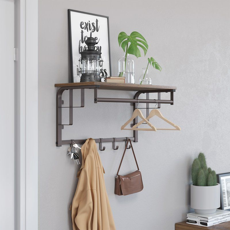 Parkinson Wall Mounted Coat Rack 40 Coat Rack Shelf