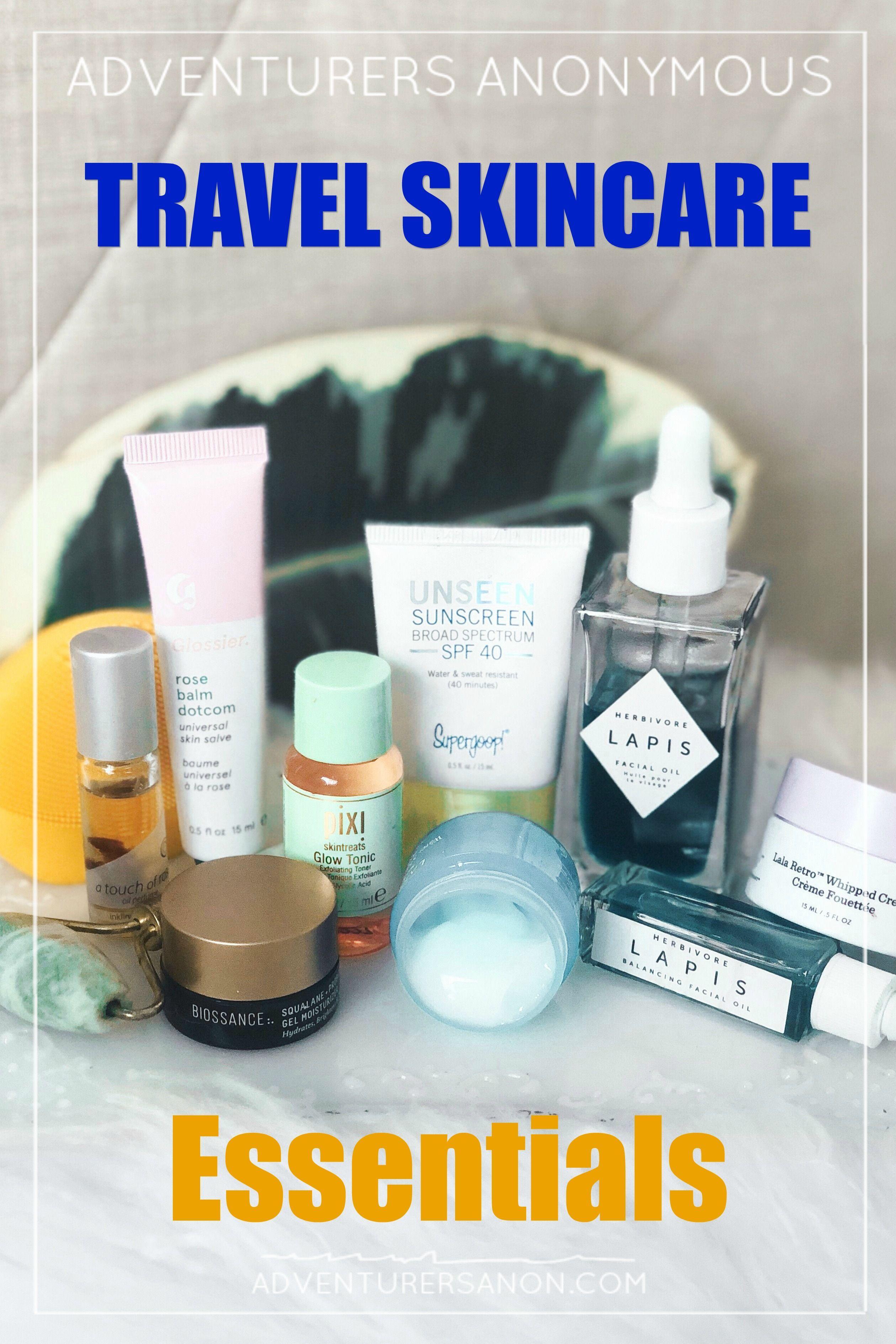 Travel Skincare Essentials For Your Next Trip The Wild Creative Travel Skincare Travel Skincare Essentials Skin Care Essentials