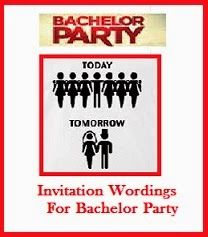 sample invitation wordings bachelor party
