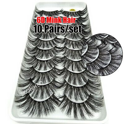 Effect Handmade 3D Mink Hair False Eyelashes Lash Extension Full Volume Thick