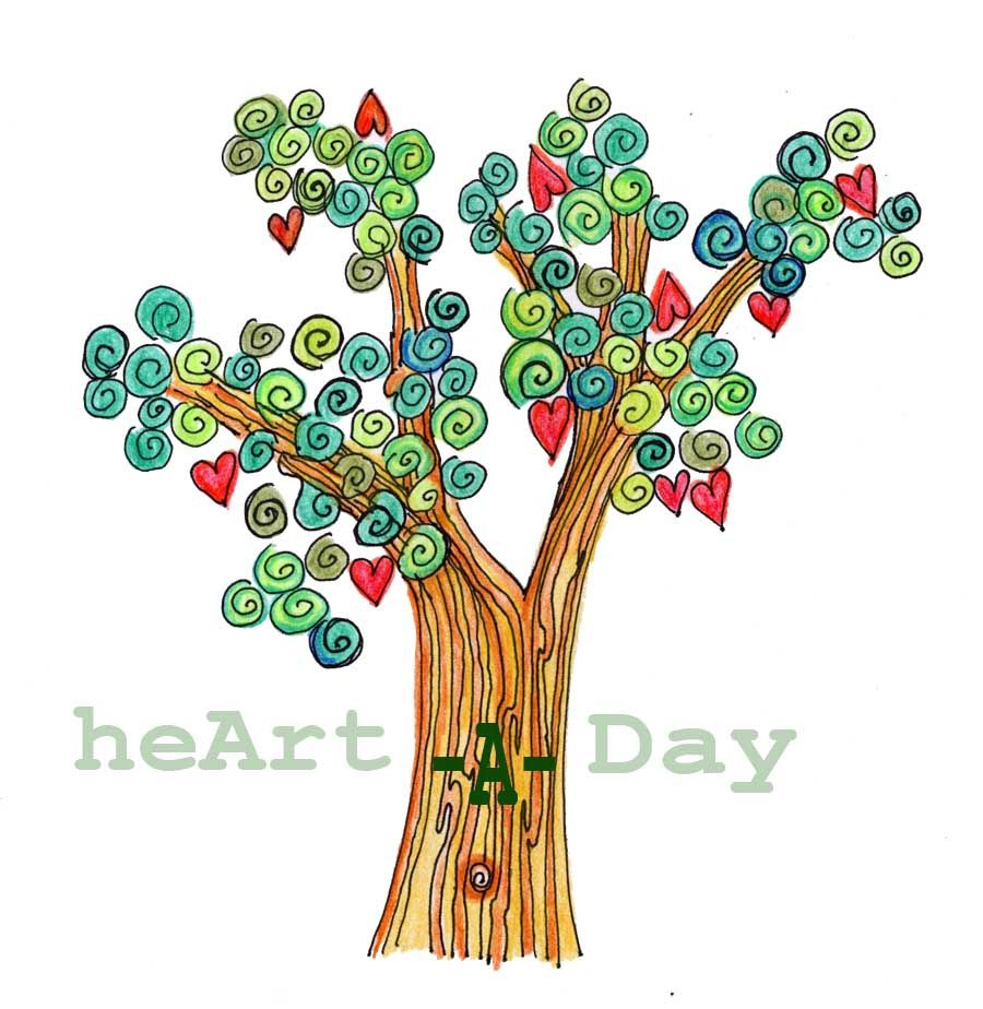 heArt #139: Heart Apple Tree Drawing | Doodles, Tree drawings and ... for Tree Drawing With Color  76uhy