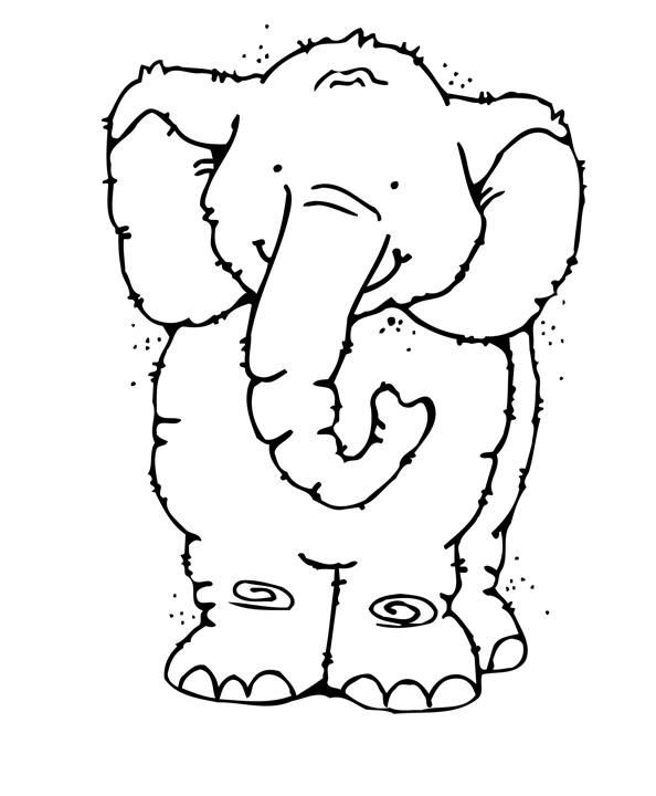 COLOR PAGE ELEPHANT