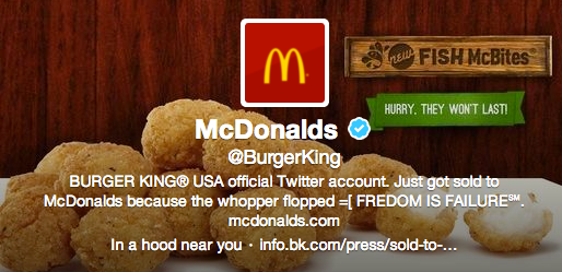 Burger King's twitter account owned!