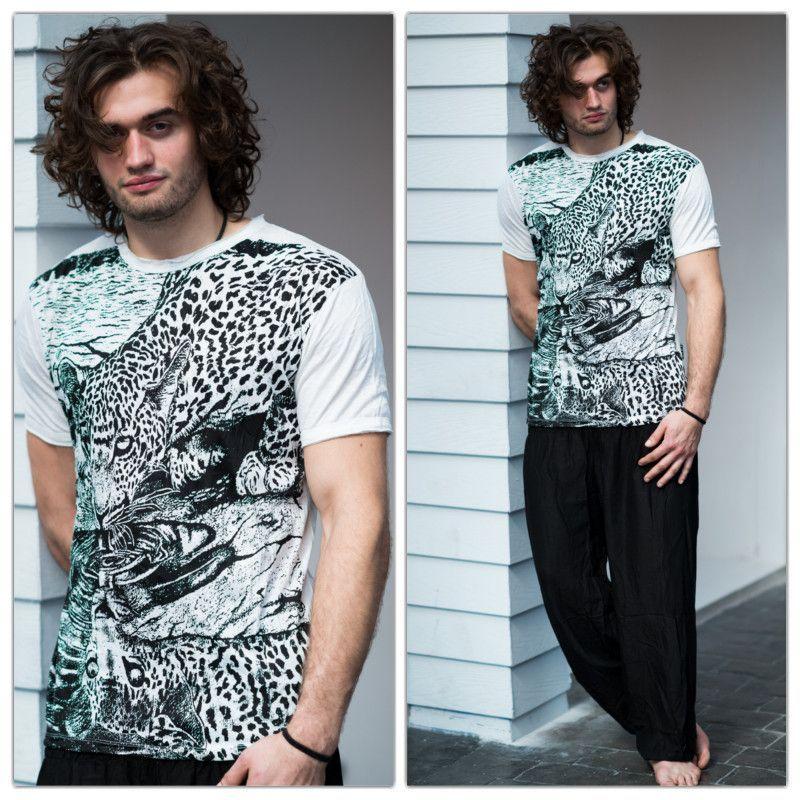Sure Design Mens Leopard T-Shirt White