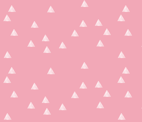 stripey triangles pink fabric by cristinapires on Spoonflower - custom fabric