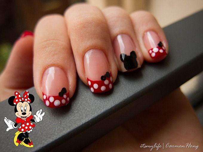 Minnie mouse nails | NailsArt | Pinterest | Uña decoradas y Diseños ...