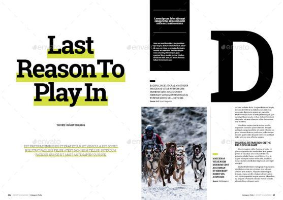 Desain Template Majalah Olahraga Prime Sport Premium Download Majalah Olahraga Template Olahraga