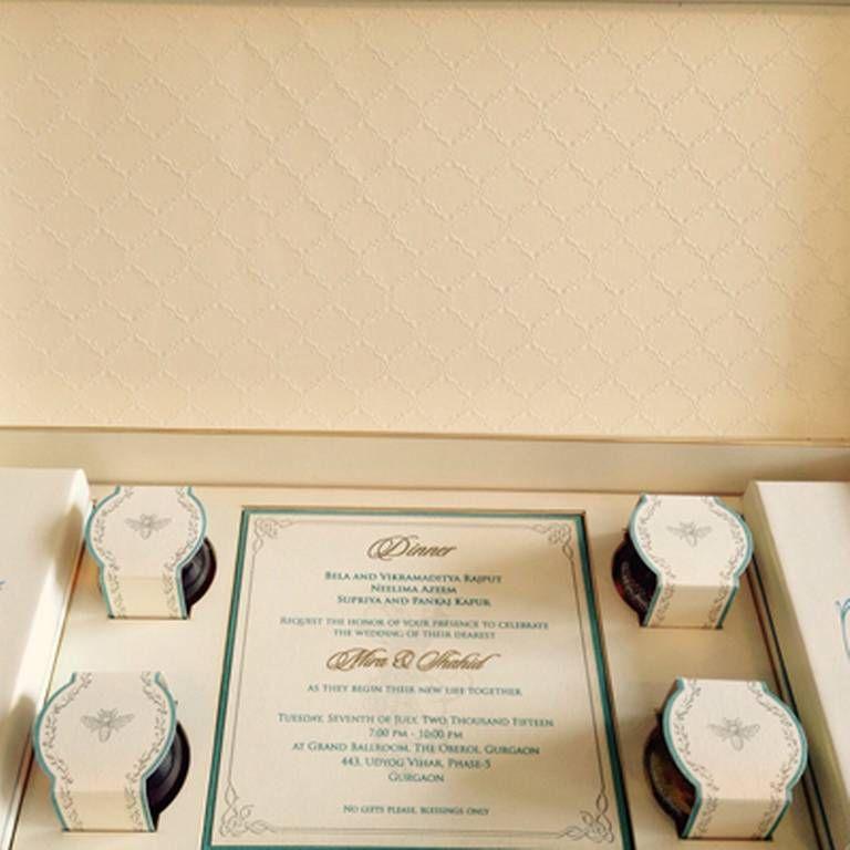 friends marriage invitation wordings india%0A Biggest bollywood wedding of the year  shahidmira wedding card