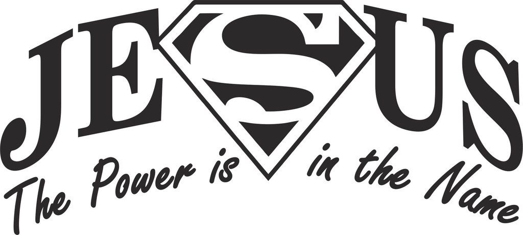 Jesus The Power Is In The Name Vinyl Decal Motorcycle Stickers