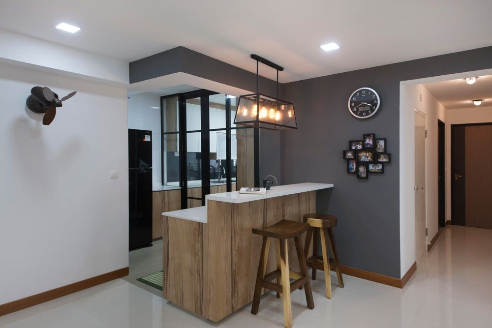 Blk 665B Punggol, Scandinavian HDB Interior Design, Dry U0026 Wet Kitchen