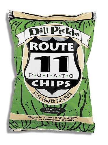 Route 11 Dill Pickle Potato Chips Loved These Got In A Potato Chip Of The Month Club I Got My Dad Chips Potato Chips Dill Pickle Chips