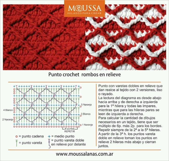 Rombos en relieve | Crochet | Pinterest | Crochet patrones, Gorros y ...